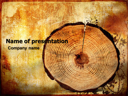 Careers/Industry: Growth Rings PowerPoint Template #05582