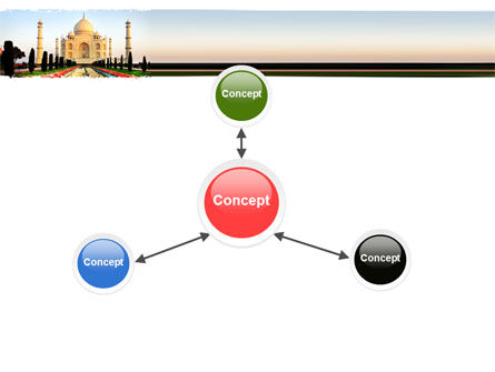 Taj Mahal PowerPoint Template Slide 14