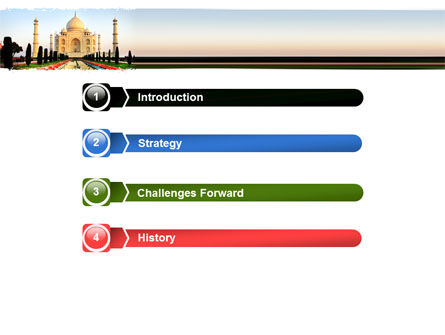 Taj Mahal PowerPoint Template, Slide 3, 05583, Flags/International — PoweredTemplate.com
