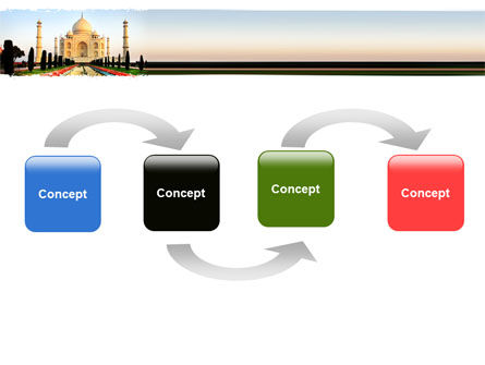 Taj Mahal PowerPoint Template, Slide 4, 05583, Flags/International — PoweredTemplate.com