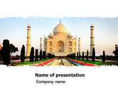 Flags/International: Taj Mahal PowerPoint Template #05583