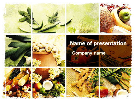 Food & Beverage: Templat PowerPoint Hadiah Alam #05587
