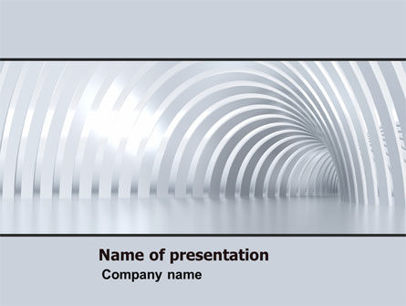 Construction: Gray Tunnel PowerPoint Template #05588