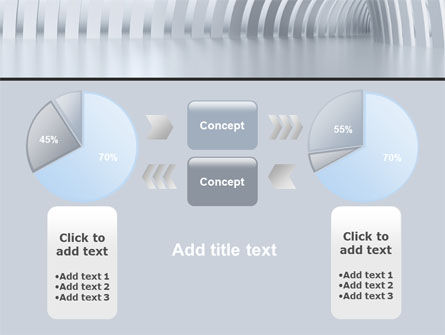 Gray Tunnel PowerPoint Template Slide 11