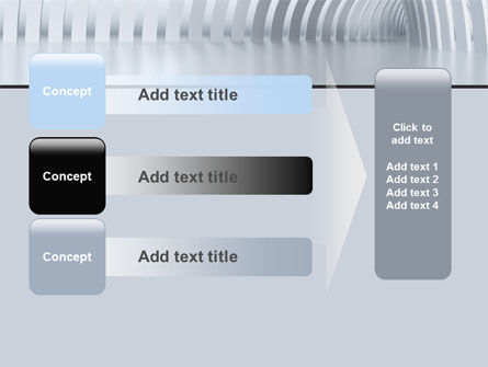 Gray Tunnel PowerPoint Template Slide 12
