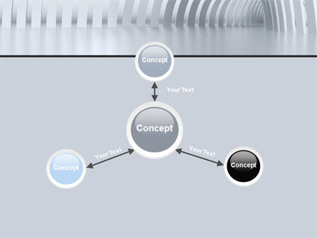 Gray Tunnel PowerPoint Template Slide 14