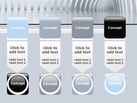 Gray Tunnel PowerPoint Template Slide 18