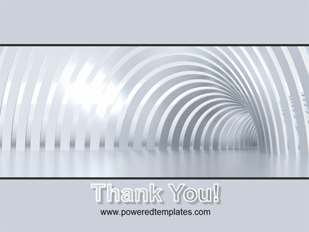 Gray Tunnel PowerPoint Template Slide 20