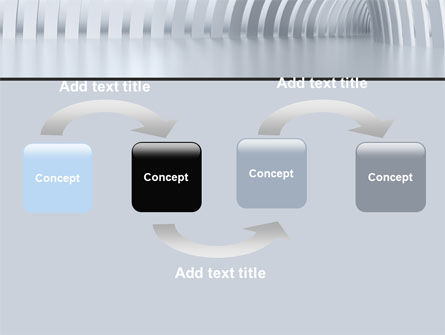Gray Tunnel PowerPoint Template Slide 4