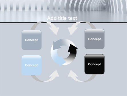 Gray Tunnel PowerPoint Template Slide 6
