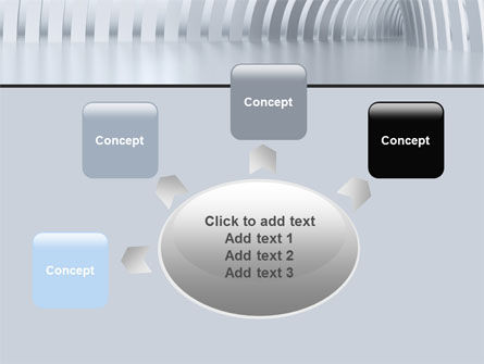 Gray Tunnel PowerPoint Template Slide 7
