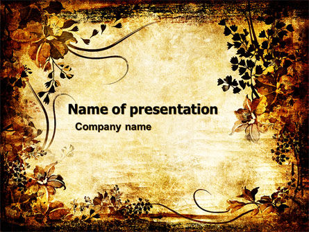 Abstract/Textures: Vegetal PowerPoint Template #05589