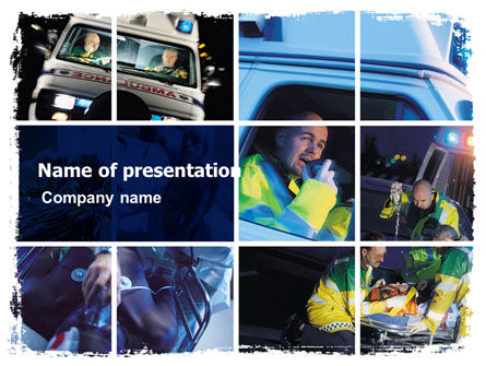 Medical: Templat PowerPoint Ambulans Darurat #05590