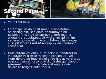 Ambulance Emergency PowerPoint Template Slide 2