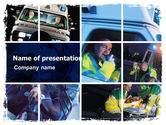 Medical: Ambulance Emergency PowerPoint Template #05590