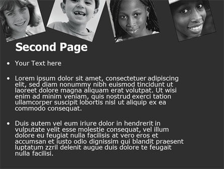 Kids In Black And White Colors PowerPoint Template, Slide 2, 05591, People — PoweredTemplate.com