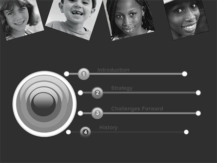 Kids In Black And White Colors PowerPoint Template, Slide 3, 05591, People — PoweredTemplate.com