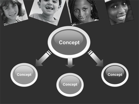 Kids In Black And White Colors PowerPoint Template Slide 4