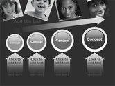 Kids In Black And White Colors PowerPoint Template#13