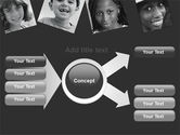 Kids In Black And White Colors PowerPoint Template#14