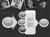 Kids In Black And White Colors PowerPoint Template#17