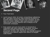 Kids In Black And White Colors PowerPoint Template#2