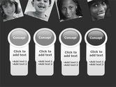 Kids In Black And White Colors PowerPoint Template#5