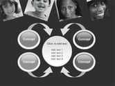Kids In Black And White Colors PowerPoint Template#6