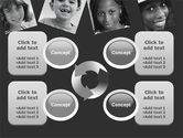 Kids In Black And White Colors PowerPoint Template#9