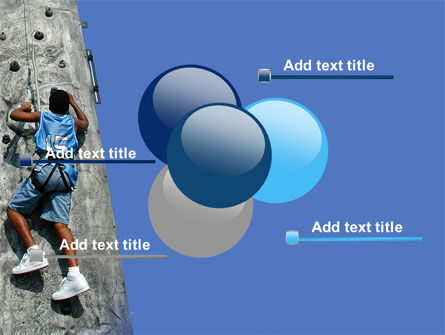 Climber On A Climbing Wall PowerPoint Template Slide 10