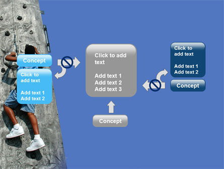Climber On A Climbing Wall PowerPoint Template Slide 13