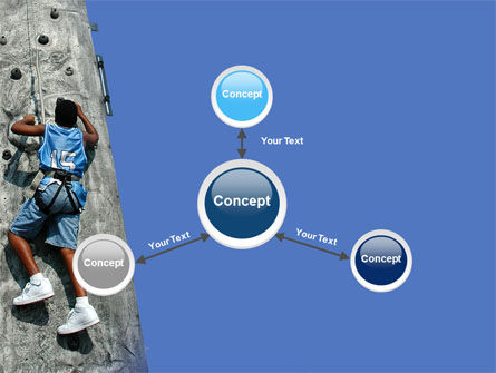 Climber On A Climbing Wall PowerPoint Template Slide 14