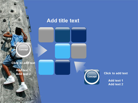 Climber On A Climbing Wall PowerPoint Template Slide 16