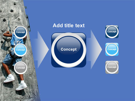 Climber On A Climbing Wall PowerPoint Template Slide 17