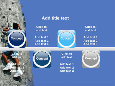 Climber On A Climbing Wall PowerPoint Template Slide 19