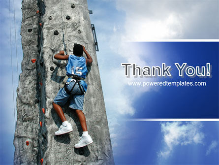 Climber On A Climbing Wall PowerPoint Template Slide 20