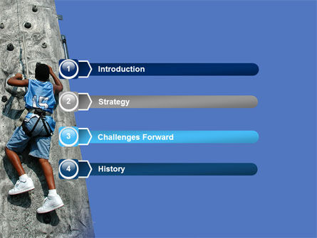 Climber On A Climbing Wall PowerPoint Template Slide 3