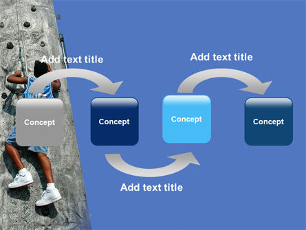 Climber On A Climbing Wall PowerPoint Template Slide 4