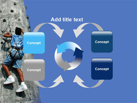 Climber On A Climbing Wall PowerPoint Template Slide 6