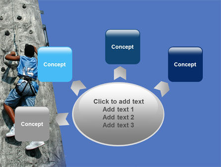Climber On A Climbing Wall PowerPoint Template Slide 7