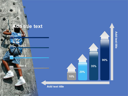 Climber On A Climbing Wall PowerPoint Template Slide 8