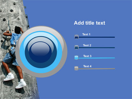Climber On A Climbing Wall PowerPoint Template Slide 9