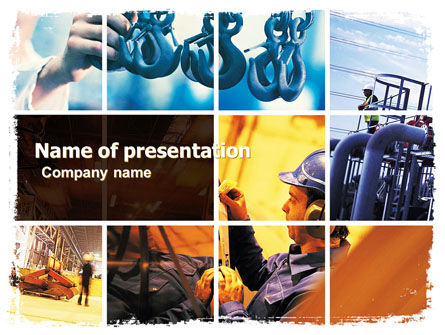 Industrial Plant PowerPoint Template, 05594, Utilities/Industrial — PoweredTemplate.com
