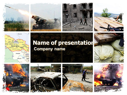War in Ossetia PowerPoint Template