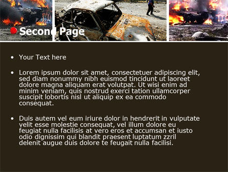 War in Ossetia PowerPoint Template Slide 2