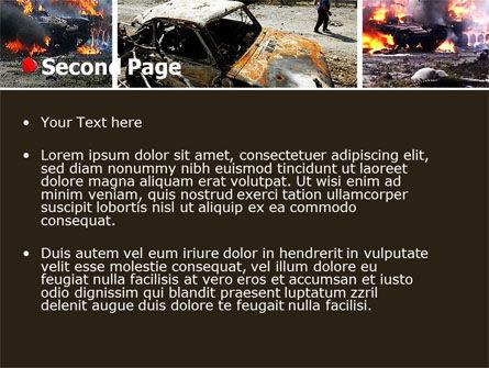 War in Ossetia PowerPoint Template, Slide 2, 05595, Military — PoweredTemplate.com