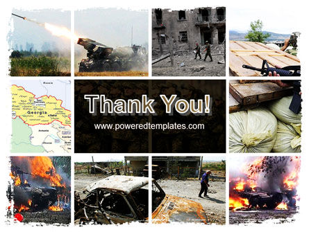 War in Ossetia PowerPoint Template Slide 20