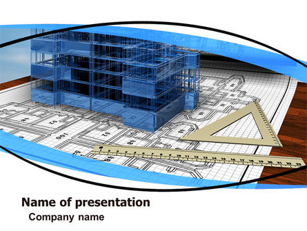 Construction: Office Building Planning PowerPoint Template #05599