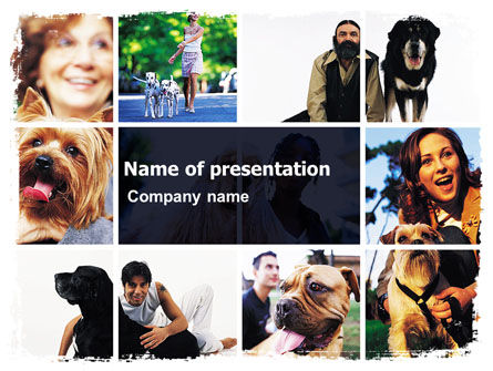 Dogs PowerPoint Template, 05601, Animals and Pets — PoweredTemplate.com