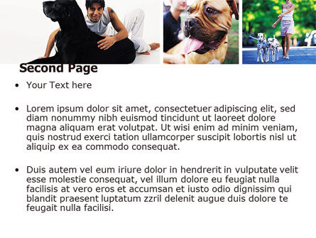 Dogs PowerPoint Template, Slide 2, 05601, Animals and Pets — PoweredTemplate.com